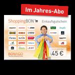 45 € Shopping BON