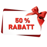 50%-Rabatt