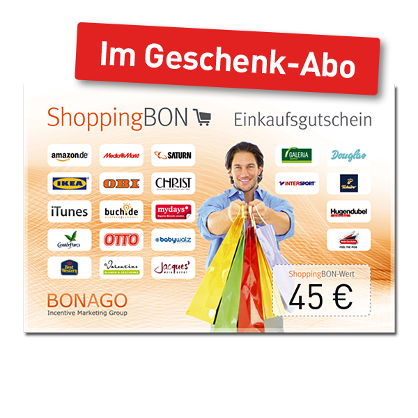 45 € Shopping BON.