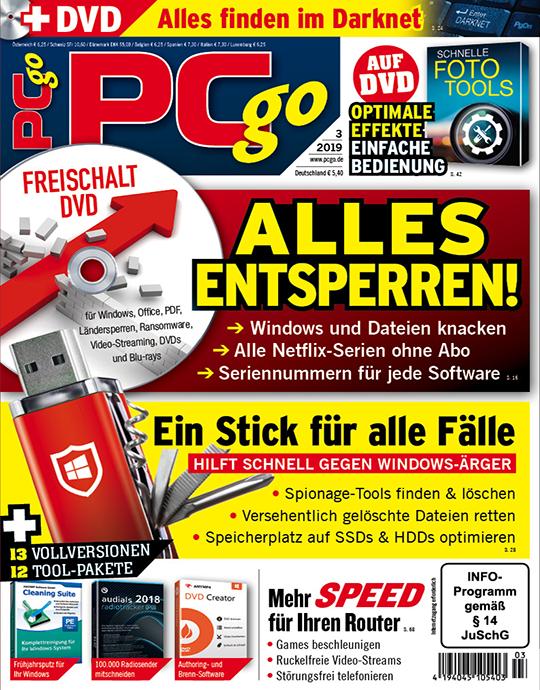 PCgo DVD Ausgabe: 3/2019