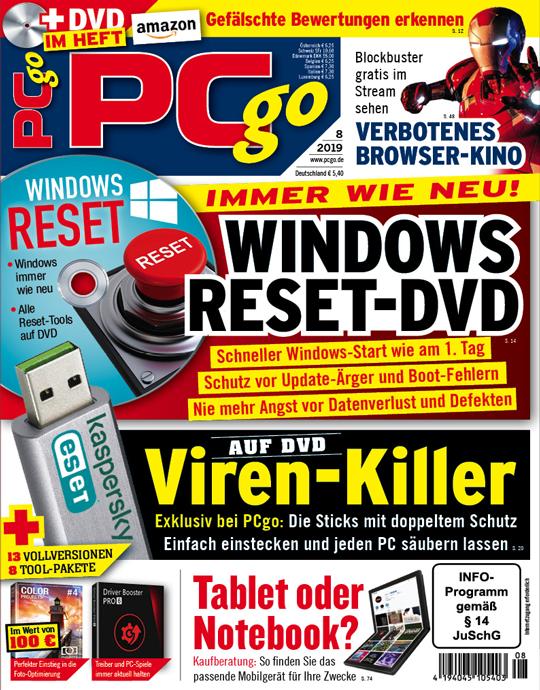 PCgo DVD Ausgabe: 8/2019