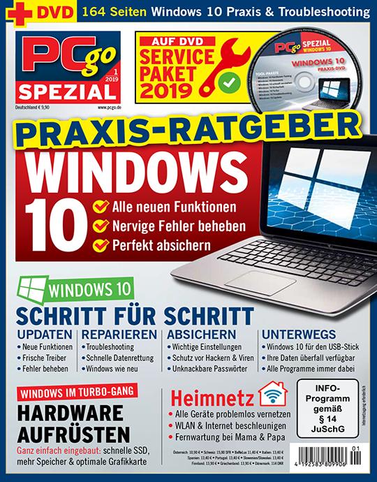 "PCgo Spezial ""Windows 10"" 1/2019"